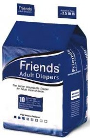 Friends Adult Diaper-Easy-XL-Pack of 10