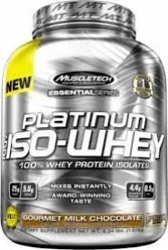 MuscleTech Platinum 100% Iso Whey 3.34 lb Chocolate
