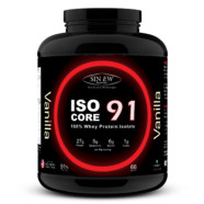 Sinew Nutrition Isocore91 100% Whey Protein Isolate Powder, 2 Kg – Vanilla Flavour