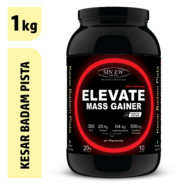 Sinew Nutrition Elevate Mass Gainer, Complex Carb & Proteins in 3:1 ratio with DigiEnzymes, 1kg / 2.2lb – Kesar Badam Pista Flavour