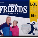 Friends Pull Ups Adult Diapers-Large-Xtra Large-Pack of 60