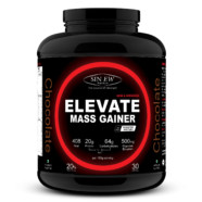 Sinew Nutrition Elevate Mass Gainer, Complex Carb & Proteins in 3:1 ratio with DigiEnzymes, 3kg / 6.6lb – Chocolate Flavor