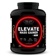 Sinew Nutrition Elevate Mass Gainer, Complex Carb & Proteins in 3:1 ratio with DigiEnzymes, 2kg / 4.4lb – Coffee Flavour