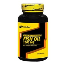 MuscleBlaze Fish Oil (1000 mg), 100 capsules