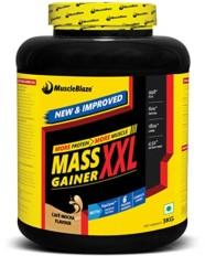 MuscleBlaze Mass Gainer XXL, 3 kg / 6.6 lb Cafe Mocha
