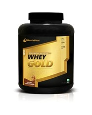 MuscleBlaze Whey Gold, 2 kg / 4.4 lb Rich Milk Chocolate