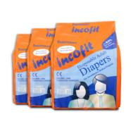 Incofit Premium Adult Diapers-Medium, Pack of 30