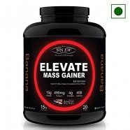 Sinew Nutrition Elevate Mass Gainer, Complex Carb & Proteins in 3:1 ratio with DigiEnzymes, 2kg / 4.4lb – Banana Flavor