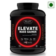 Sinew Nutrition Elevate Mass Gainer, Complex Carb & Proteins in 3:1 ratio with DigiEnzymes, 3kg / 6.6lb – Banana Flavour