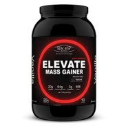 Sinew Nutrition Elevate Mass Gainer, Complex Carb & Proteins in 3:1 ratio with DigiEnzymes, 1kg / 2.2lb – Vanilla Flavour
