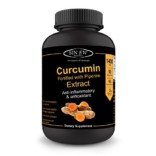 Sinew Nutrition Organic Turmeric Curcumin Extract 90 Veg Capsules (1400 mg / serve), 95% Curcuminoids with Piperine for Extra Bioavailability