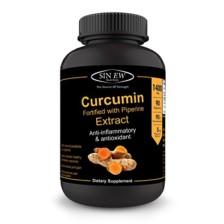 Sinew Nutrition Organic Turmeric Curcumin Extract 90 Veg Capsules (1400 mg / serve), 95% Curcuminoids with Piperine for Extra Bioavailability