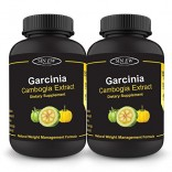 Sinew Nutrition Garcinia Cambogia 120 Caps 1500 mg/Serve (Pack of 2), 100 % Veg, Pure & Natural Weight Management & Appetite Suppressant Supplement