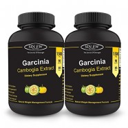 Sinew Nutrition Garcinia Cambogia 90 Caps 1500 mg/Serve (Pack of 2), 100 % Veg, Pure & Natural Weight Management & Appetite Suppressant Supplement