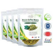 Sinew Nutrition Green Coffee Beans 200gm (Pack of 4) Decaffeinated & Unroasted Arabica Coffee for weight management