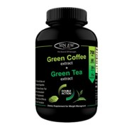 Sinew Nutrition Green Tea and Green Coffee Extract 700 mg (60 Pure Veg Capsules), 100 % Pure & Natural Weight Management & Appetite Suppressant Supplement