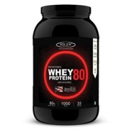 Sinew Nutrition Instantised Whey Protein Concentrate 80% Raw & Unflavoured Supplement Powder,1 Kg