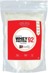 Sinew Nutrition Instantised Whey Protein Isolate 92% Raw & Unflavoured 360gm(12 Servings) Supplement Powder