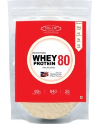 Sinew Nutrition Instantised Whey Protein Concentrate 80% Raw & Unflavoured Supplement Powder,840 g