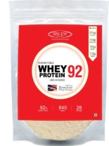 Sinew Nutrition Instantised Whey Protein Isolate 92% Raw & Unflavoured Supplement Powder, 840 g