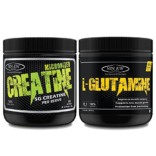Sinew Nutrition Micronised Creatine Monohydrate – 300g and 100% Pure L-Glutamine Powder 330gm