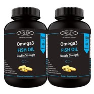 Sinew Nutrition Omega 3 Double Strength Fish Oil 1000mg (300EPA & 200DHA), 60 Softgels (Pack of 2)