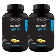Sinew Nutrition Omega 3 Fish Oil 500mg (150EPA & 100DHA), 60 Softgels (Pack of 2)