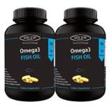 Sinew Nutrition Omega 3 Fish Oil 500mg (150EPA & 100DHA), 60 Softgels (Pack of 2)