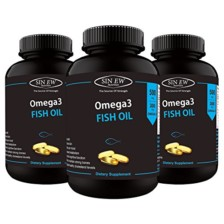 Sinew Nutrition Omega 3 Fish Oil 500mg (150EPA & 100DHA), 60 Softgels (Pack of 3)