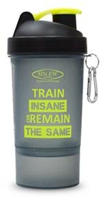 Sinew Nutrition All In One Smart Shaker Bottle 600ml – 20 oz (Black/Neon Green)