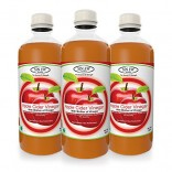 Sinew Nutrition Raw Apple Cider Vinegar (Unfiltered & Unpasteurised) with strand of Mother 500ml (Pack of 3)