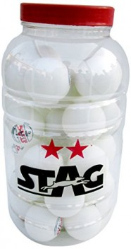 Stag 2 Star Table Tennis Balls pack of 30-White