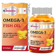 St.Botanica Omega 3 Fish Oil 1000mg (180EPA, 120 DHA) – 60 Softgels