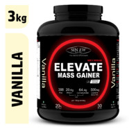 Sinew Nutrition Elevate Mass Gainer, Complex Carb & Proteins in 3:1 ratio with DigiEnzymes, 3kg / 6.6lb – Vanilla Flavour