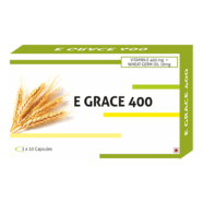 E- Grace Vitamin E 400mg + Wheat Germ Oil 10mg Capsules