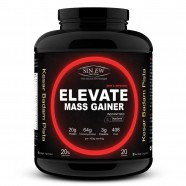 Sinew Nutrition Elevate Mass Gainer, Complex Carb & Proteins in 3:1 ratio with DigiEnzymes, 2kg / 4.4lb – Kesar Badam Pista Flavor